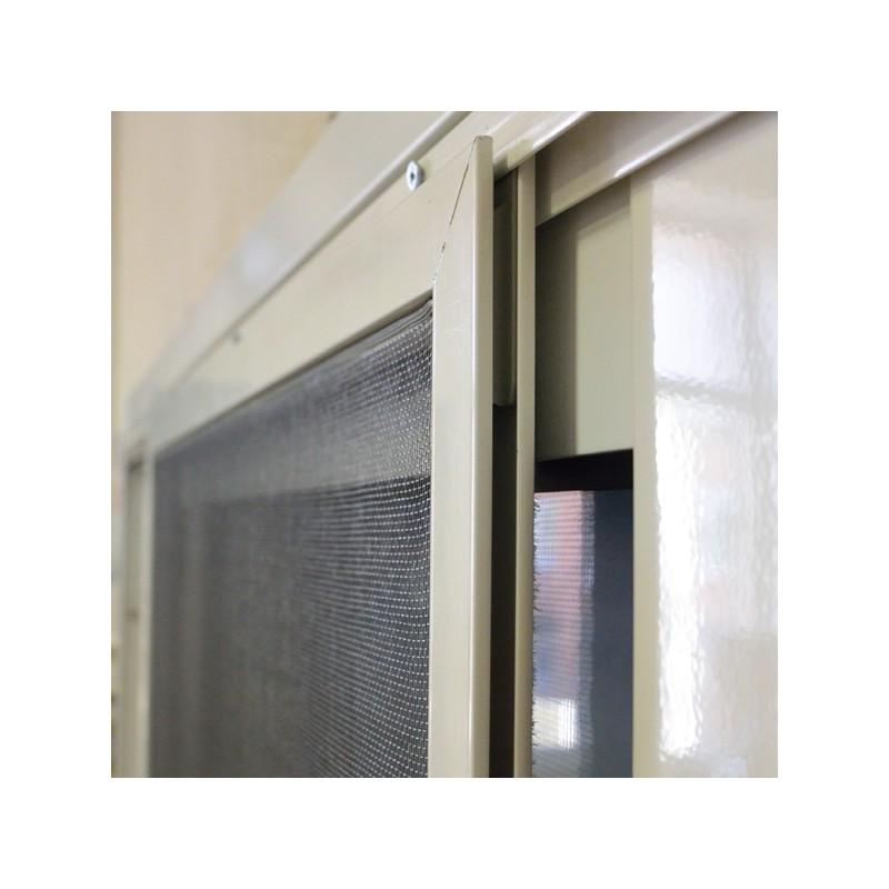 Mosquitera enrollable perfileria de aluminio color blanco - Perfileria de aluminio ...